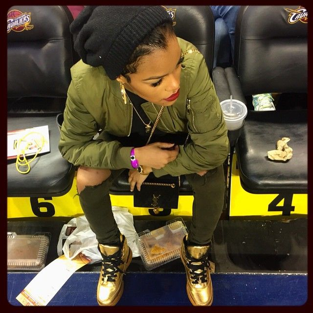 future jordans black and white Teyana Taylor love this