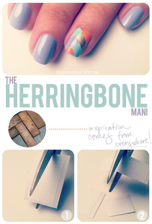 The Beauty Department's Herringbone Mani