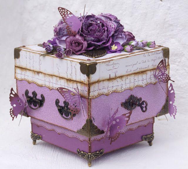 Mitt Lille Papirverksted: Purple Wooden Box