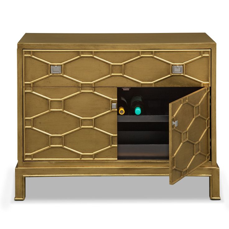 Deep gold bedroom accent chest