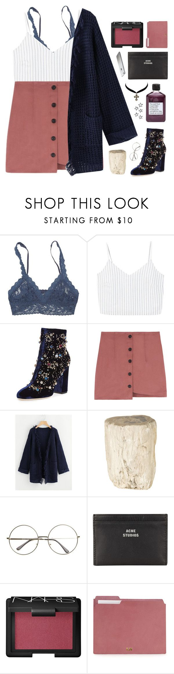 """when you smile i fall apart"" by frostedfingertips ❤ liked on Polyvore featuring Hanky Panky, MANGO, GEDEBE, Not Soap, Radio, Jayson Home, Acne Studios, NARS Cosmetics, Charlotte Russe, haileelook and clarelook"