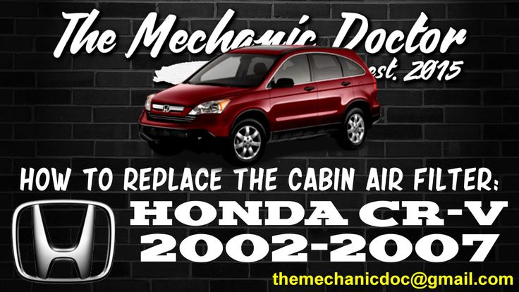 This video will show you step by step instructions on how to easily replace the cabin air filter on a Honda CR-V 2002-2007.