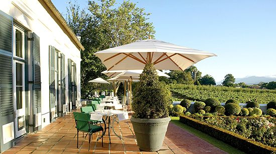 Manor House Terrace Grande Roche Hotel Cape Winelands
