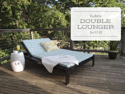 Build a double chase lounge.  Outdoor lounger, sew cushion. One Project at a Time - DIY Blog