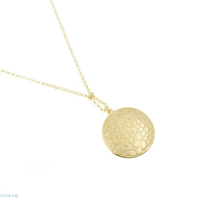 Li -LA - LO Necklace in gold plated sterling silver