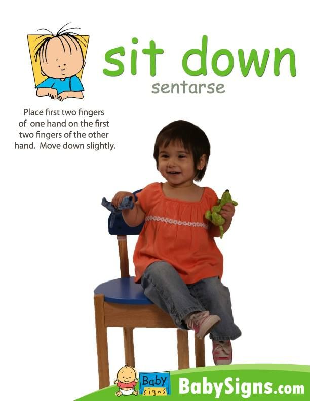 how to sign sit down