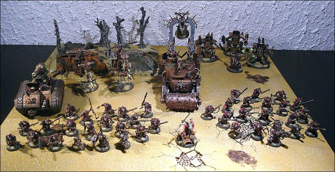 L'armée Skavens Warhammer 40 000 de Julien Haejul