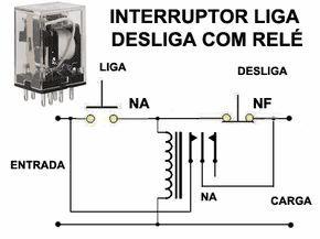 """Este circuito utiliza apenas duas chaves e um relé comum, não existe segredo na sua construção, é fácil e barato. Ele é chamado de """"locked-out relay"""" .."""