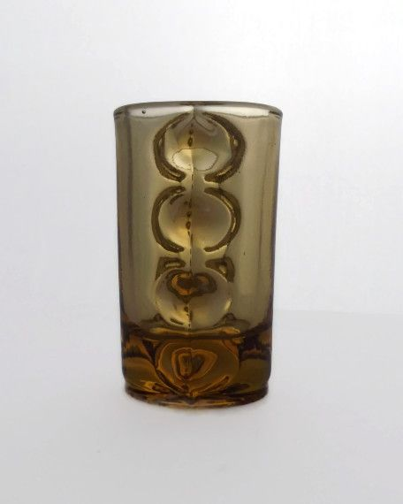 Eryka Trzewik-Drost, Zabkowice vintage art pressed glass, Poland, circa 1968