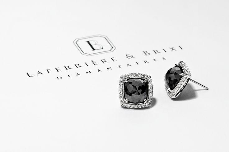 Black Diamond Earrings Boucle d'oreille diamant noir