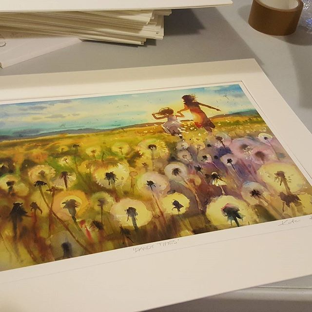 Signing my first #prints today. Exciting! :) I will be showing them at ArtSource next weekend. #artcollective #paintingwatercolor #affordableart #art #painting #meadow #flowers #floralart #floralpainitng #art_motive #creativelife #lovemyjob