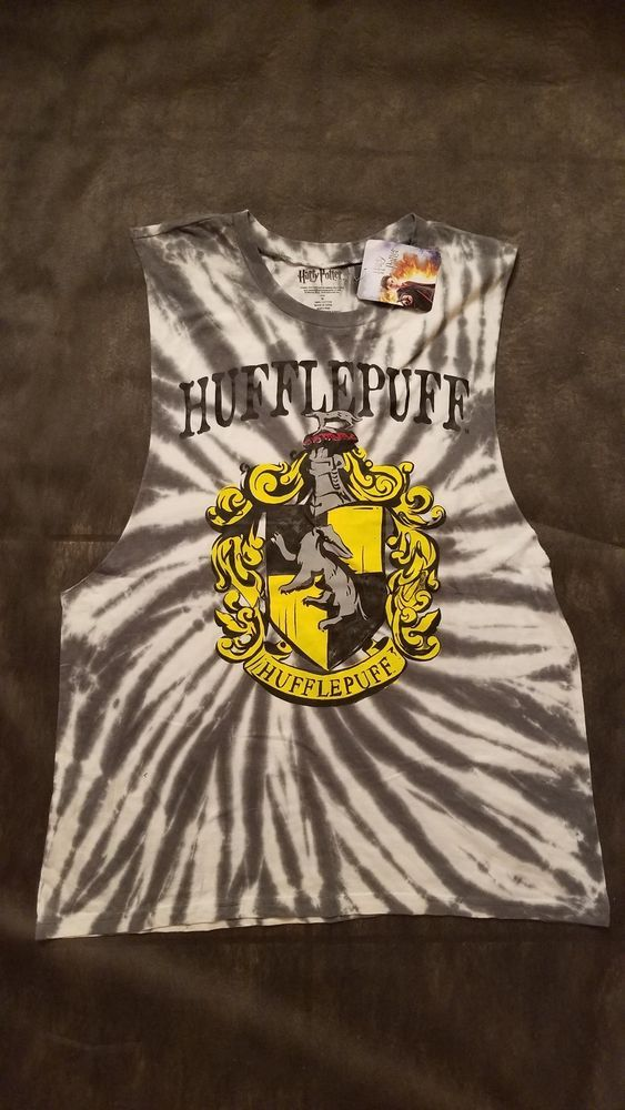 d1bad309 Harry Potter HUFFLEPUFF Tie Dye Muscle Tank Top XL Warner Brothers #fashion  #clothing #shoes #accessories #mensclothing #shirts (ebay link)