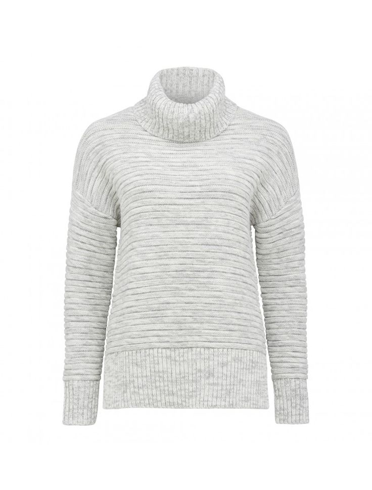 Poppy Roll Neck Jumper Iced Grey - Womens Fashion | Forever New