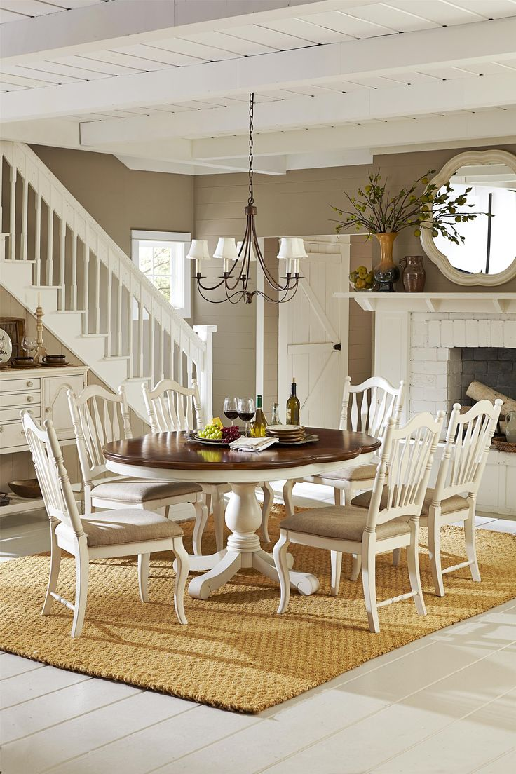 168 best dining room style images on pinterest room style south legacy classic haven high low pedestal table w sheaf back chairs dining set in buttercream white