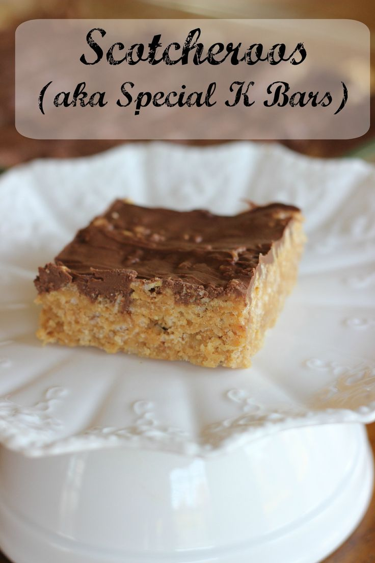 So, I was making these Special K Bars the other day, thinking my kids would love this chocolatey, peanut buttery treat. Then my older son says, Oh wow! Scotcheroos!! It seems they are a favorite of his and they make them where he works. And, I didn't know he liked them. I had never […]