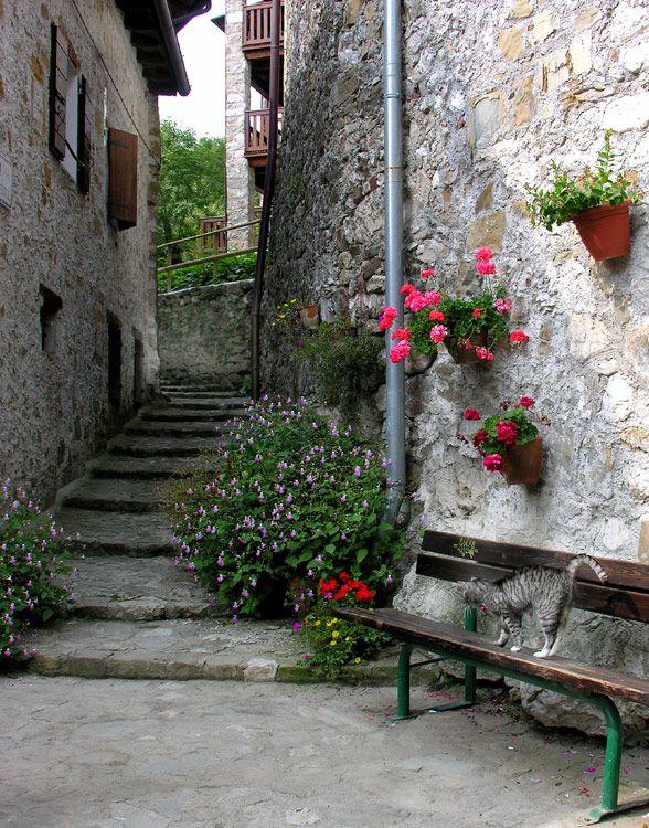 Poffabbro village, Pordenone, Friuli-Venezia Giulia_ Italy