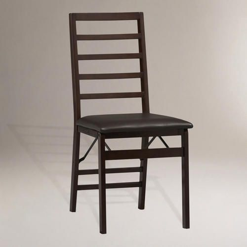 One of my favorite discoveries at WorldMarket.com: Ladder Back Folding Dining Chairs, Set of 2