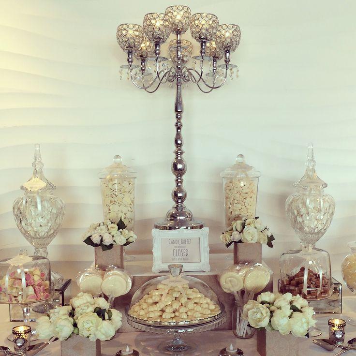 Vintage Candy Buffet with candelabra By RoseandViolet.com.au