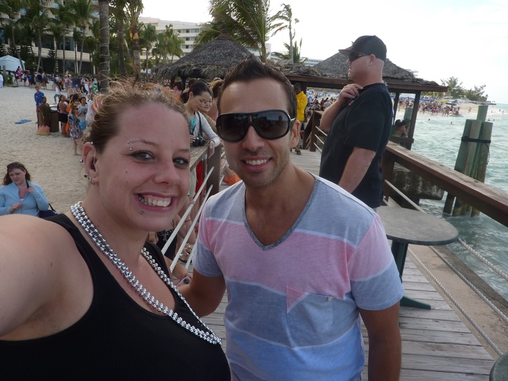 Howie D and I on the beach!   BSB Cruise 2011