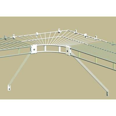 Closetmaid Ventilated Wire Corner Shelf For 12 In Shelf