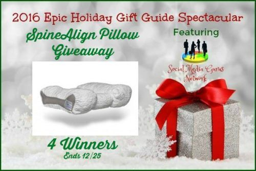 Enter #ad to WIN SpineAlign Pillow Giveaway *4* Winners #SMGN http://bit.ly/2fhGVpJ