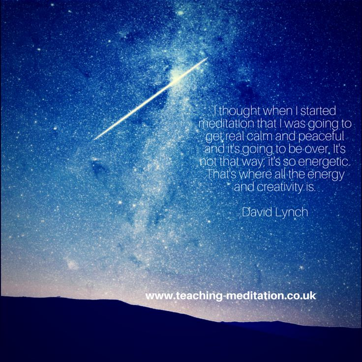 Meditation bringing creativity and energy David Lynch