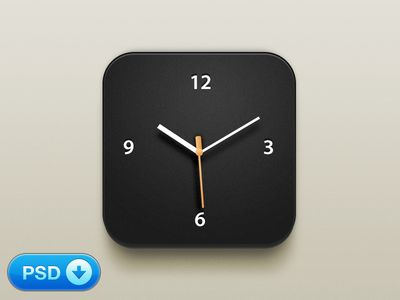 Clock iOS icon (Freebie)!