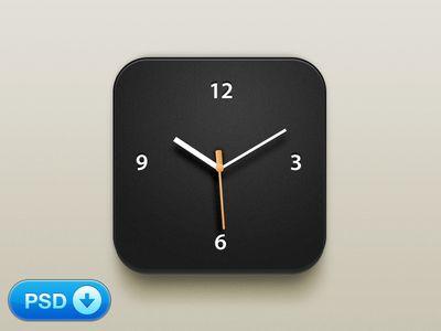 Beautiful Clock iOS Icon