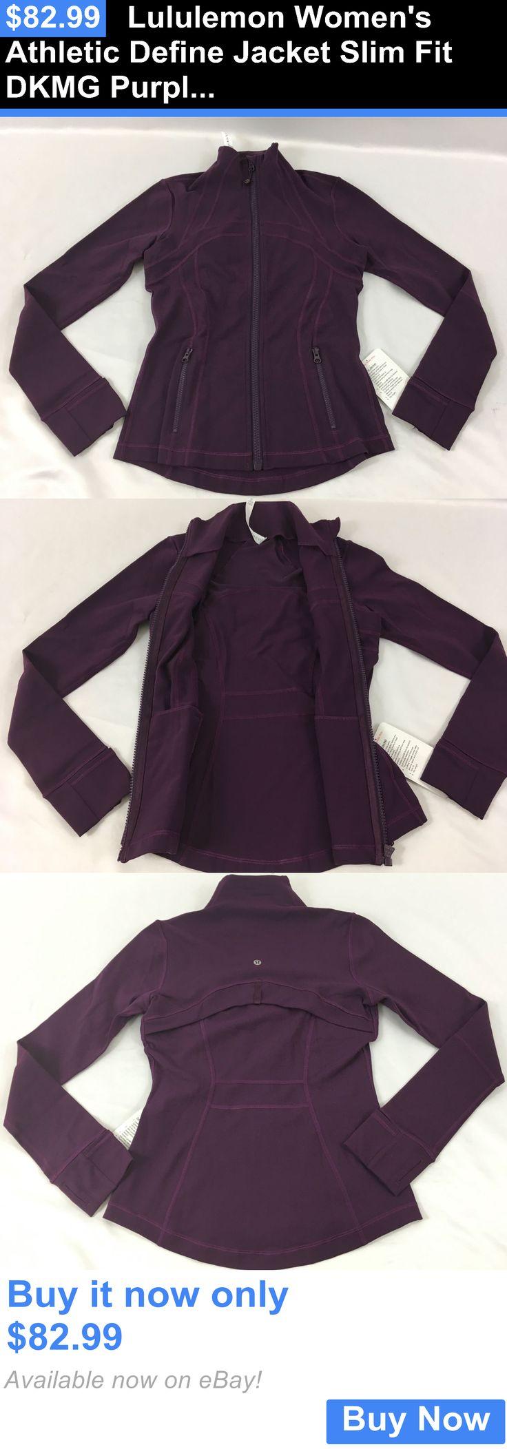 Women Athletics: Lululemon Womens Athletic Define Jacket Slim Fit Dkmg Purple Size 6 BUY IT NOW ONLY: $82.99