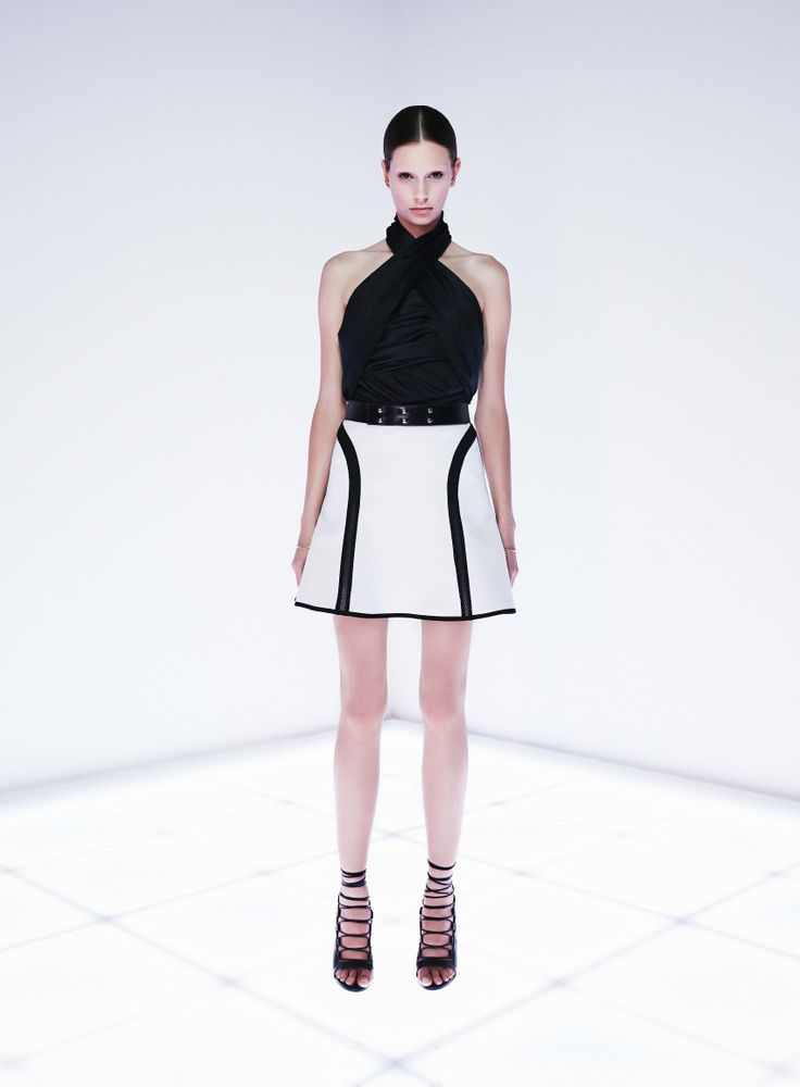 Bespoke Bodysuit Syntax Skirt by CAMILLA AND MARC http://www.camillaandmarc.com/syntax-skirt-black-w-white.html