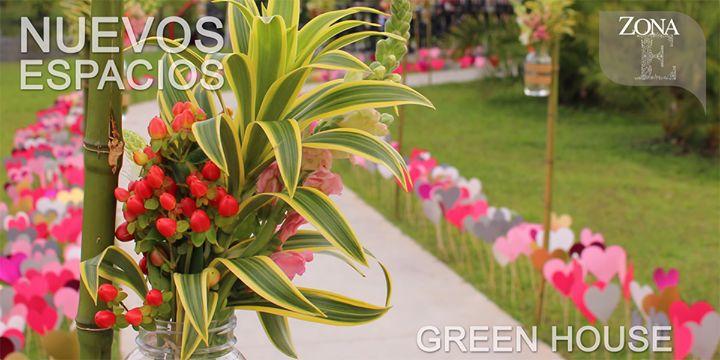 #ElGreenHouse, un espacio hecho para tu eventos más íntimos.    Contáctanos al 3106158616 / 3206750352 / 3106159806 y reserva desde ya, atendemos todos los días de la semana y fines de semana incluido festivos. www.zonae.com