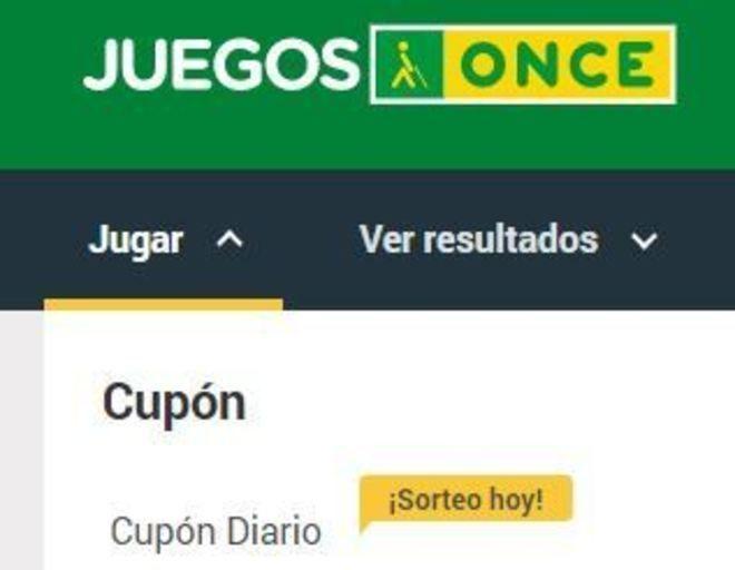 ONCE: Sorteo del Cupón Diario del martes 6 de marzo de 2018