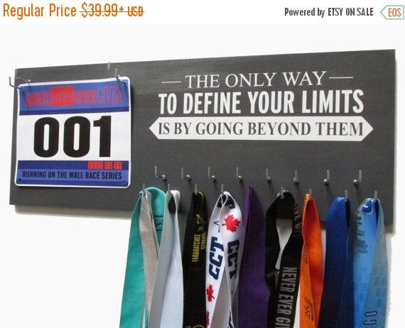 READY2 SHIP Use Marathon Medal Display to display your marathon medal in style…