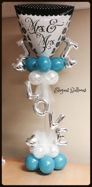 bridal shower #bridal #shower www.elegant-balloons.com