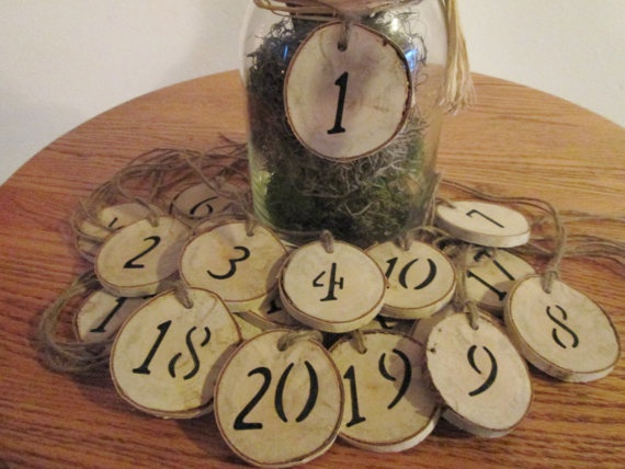 Table Numbers Rustic Table Numbers Wedding by DivineRusticCreation, $28.00