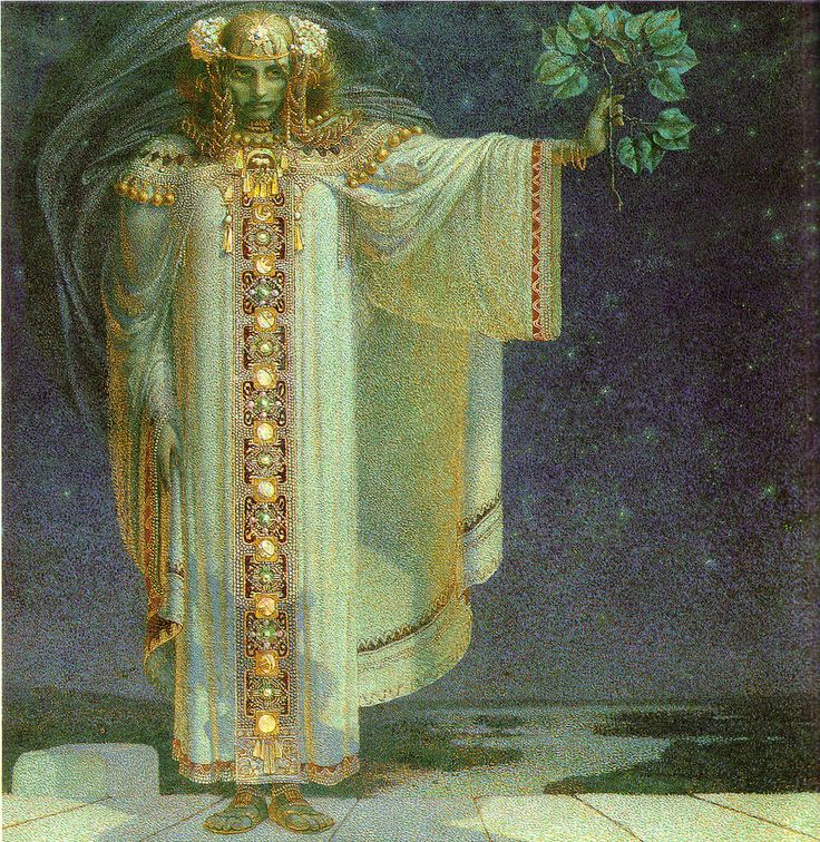 Karel Vítězslav Mašek The Prophetess Libuše, 1893 viaaubade:calypsospots