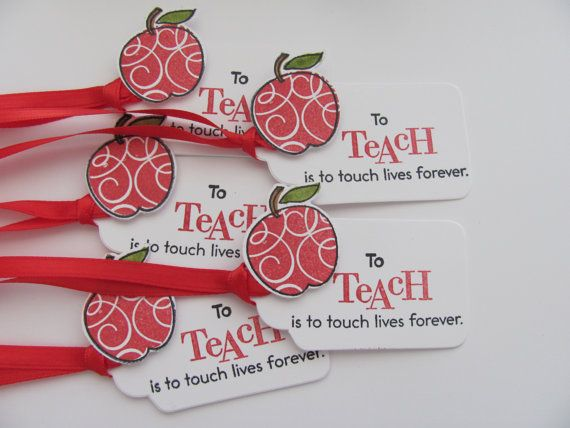 Teacher Gift Tags Teacher Favor Tags Gift by SassyScrapsCrafts