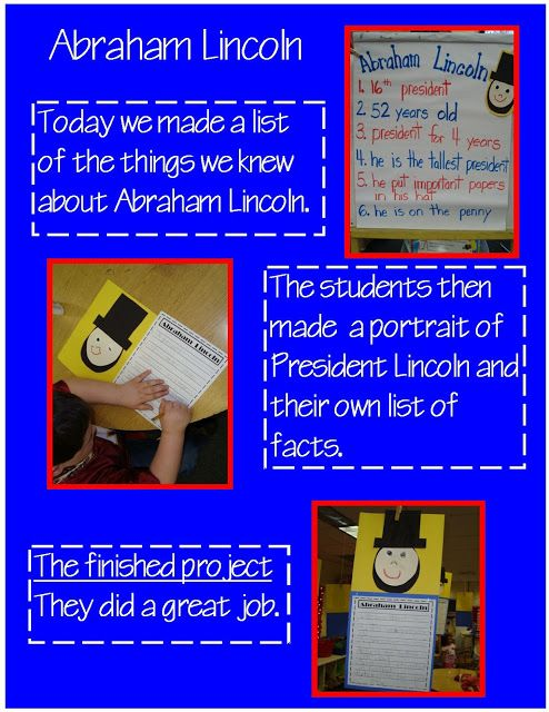 Abraham Lincoln Facts and writing activity
