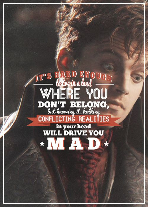 The Mad Hatter - Once Upon a Time. He was the character who made me feel sorry for him. This guy is great. The Mad Hatter is my dude. He needs more screen time...