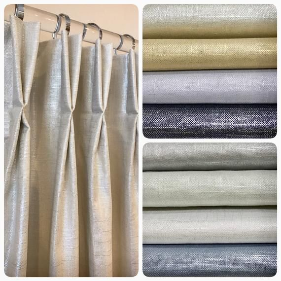 Linen Ds French Pleat Curtains, Shimmer Curtain Panels