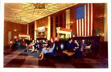 Chicago Illinois interior Bismarck Hotel vintage postcard