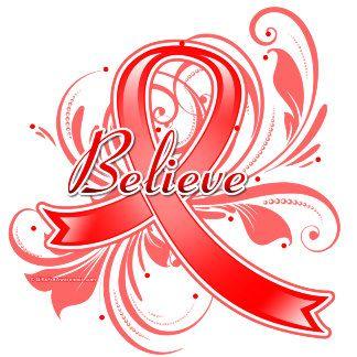 Heart Disease Believe Flourish Ribbon