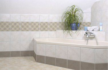 80 best salle de bain en galets images on pinterest - Carrelage adhesif folii ...