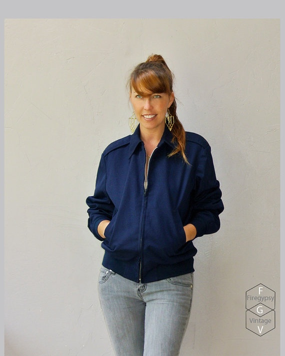 vintage 70s Navy military bomber jacket by FiregypsyVintage, $48.92