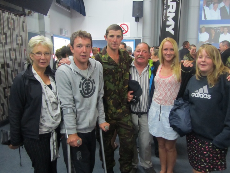 With my family at my graduation into the New Zealand Army Territorial Force #nzarmy #greatwalker