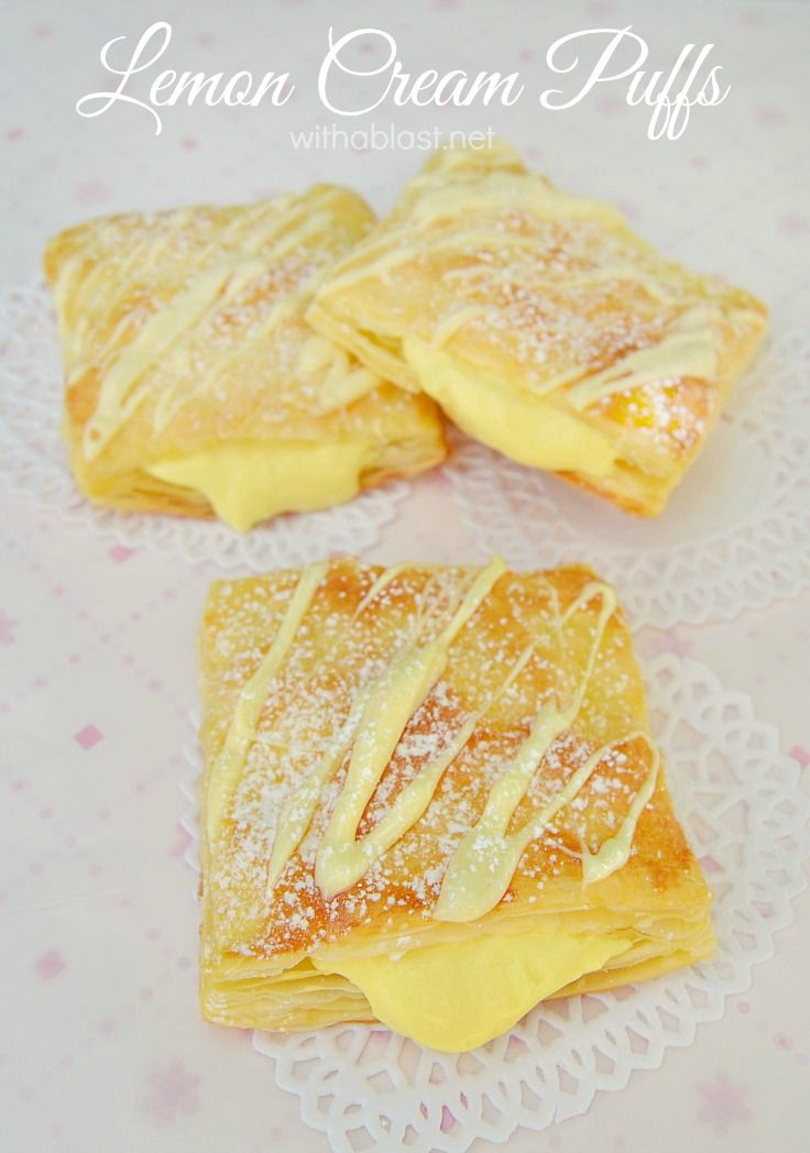 Light & flaky Puffs filled with a divine Lemon Cream, which can be as zesty as you prefer ~ another Quick, easy but scrumptious dessert Pastry !