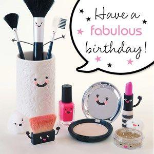 Have a fabulous birthday! #Hallmark #HallmarkNL #birthday #makeup #smiley #verjaardag #jarig #fabulous