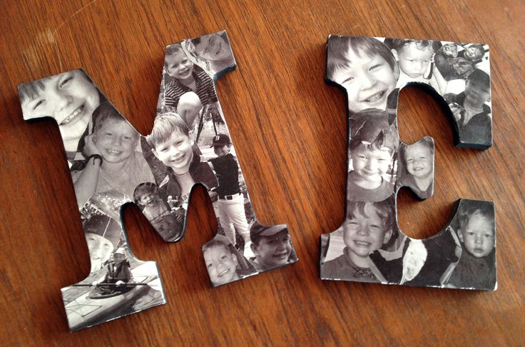Mod Podge Wood Letters with Copies of your Favorite Photos for DIY Wall Art - We're guest pinning for @FaveCrafts this month!