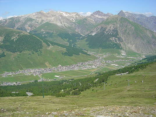 View on the valley.