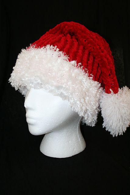 Knitting Pattern For A Christmas Hat : Ravelry: Loom Knit Santa Hat pattern by Dena Ziegler Loom Knitting Pinter...